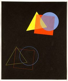 Eugen Batz's The spatial effect of colours and forms, from Wassily Kandinsky's course at the Bauhaus Dessau, 1929