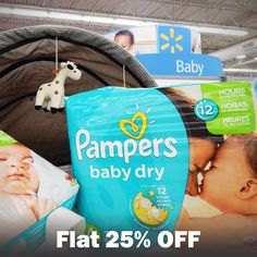 Great nights lead to great mornings. Give your little one up to 12 hours of protection with #Pampers Baby Dry. Shop and save flat 25% on #Mamypoko Pampers - http://www.grabon.in/Shopclues/m/