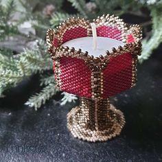 Beading pattern - Candle Holder 'Goblet' - Trinkets beading
