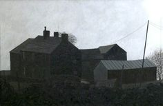 The Farm, Mow Cop, Staffordshire..1961. Oil by Jack Simcock.. |T