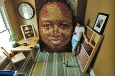 Giant Portraits Made From Wine Corks by Scott Gundersen | Inhabitat - Sustainable Design Innovation, Eco Architecture, Green Building