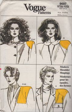 Vogue 9697 1980s Misses Camisole and Shoulder Shapers Pads womens vintage sewing pattern by mbchills