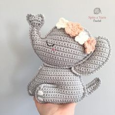 crochet elephant pattern Hey, look at me! Add this lovely crochet elephant pattern to your collection. You wont regret it! Crochet Elephant Pattern, Crochet Doll Pattern, Crochet Patterns Amigurumi, Thread Crochet, Crochet Yarn, Crochet Toys, Amigurumi For Beginners, Crochet Patterns For Beginners, Crochet Gratis