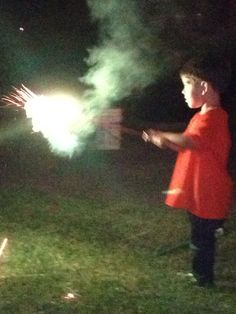 First time Sparklers! What an amazing thing.