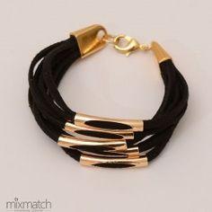 black Nebula Cord Bracelets, Spring Summer 2015, Leather, Black, Jewelry, Jewlery, Black People, Jewerly, Schmuck