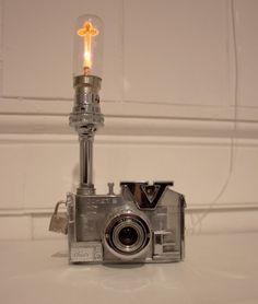 Lawrence Latham camera lamp