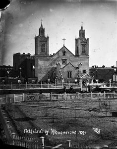 "An old tintype from 1881 showing the ""Cathedral of Albuquerque"".  Palace of the Governors Photo Archives.  #cathedralofalbuquerque #albuquerque #albuquerquenm #albuquerquenewmexico #newmexico #oldnewmexico"