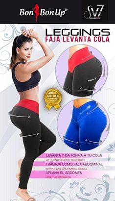 8d4861c866 Black and Red Leggings with Internal body shaping girdle XXLarge-US 10-11 at