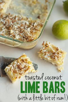 Toasted Coconut Lime Bars