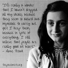 Ideals - Anne Frank
