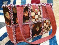 Leaves of Autumn Rag Quilt Purse.
