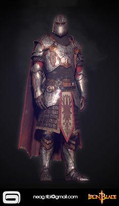 3d Fantasy, Fantasy Armor, Fantasy Weapons, Medieval Fantasy, Fantasy Setting, Red Knight, Knight Armor, Fantasy Inspiration, Character Inspiration