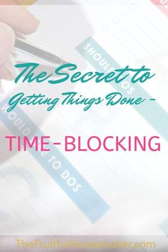 I've discovered the secret to getting things done! This is a great time management tool for busy moms, whether you're a stay-at-home-mom, work-at -home-mom or work outside the home. Time Management Tools, Time Management Strategies, Project Management, House Management, Office Management, Business Management, Office Organization At Work, Thing 1, Work From Home Tips