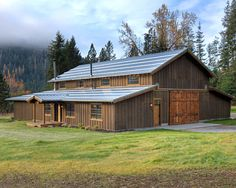 barn home kits with ecletic exterior focus   lake home design