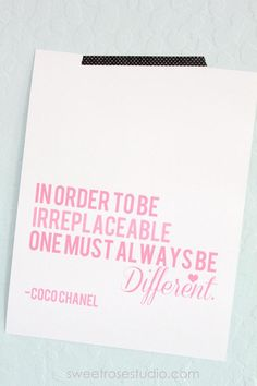 Coco Chanel Prints in SIX different colors! #freebie #homedecor #inspiration