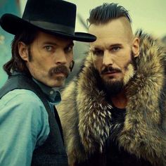 Doc Holliday and Bobo Del Rey. Season 2 episode 8.  Hell yes Michael eklund I've missed you.  # wynonna earp