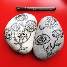 #new #natural #stones #stoneart #dogaltas #handpainted #koalaart #by #damla…