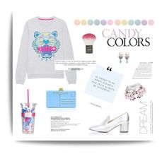 """CANDY"" by ironono ❤ liked on Polyvore featuring Kenzo, Topshop, Deborah Lippmann, Edie Parker, Sinclair, Lilly Pulitzer, VIVETTA, women's clothing, women and female"