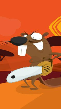"""I had to pin this here because remeber when Soos said """"Cool beaver with a chainsaw""""? I had to"""