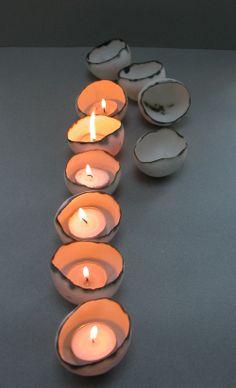 Porcelain Tea Light Shell by Sinead O'Moore- Radiance