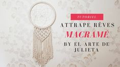 DIY MACRAME | Attrape rêves pas à pas Diy Macrame, Crochet Earrings, Creations, Deco, Places, Wall, Youtube, Cord, Decor