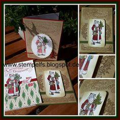 Stempel, Farben & Spaß: Father Christmas
