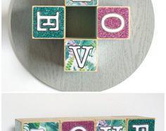 Photo Blocks 2x2 wood photo blocks Totem by BlocksFromTheHeart