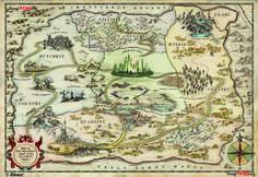 Maps of Oz - Oz Wiki - The Wonderful Wizard of Oz