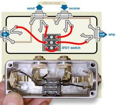 Diagram: bypass pedal wiring