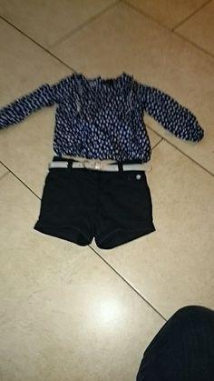 Süßes Set aus Shorts und Bluse Shorts, Short Dresses, Fur, Women, Fashion, Spinning Top, Short Gowns, Blouse, Kids