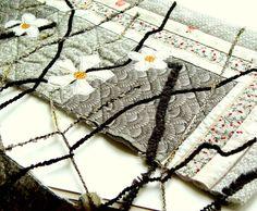 SPRING LACE Home Decor Textile Art Quilting Art by BozenaWojtaszek,
