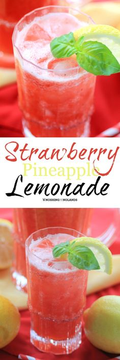 Strawberry Pineapple Lemonade by Noshing With The Nolands you will be loving all summer long!!