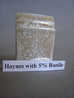 Haynes with Rutile Nepheline Syenite 45 Silica 30 Whiting 8 Dolomite 10 Talc 7 100 Rutile 5