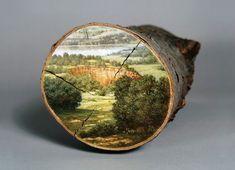 Paintings on Fallen Tree Logs Mirror Their Natural Origins By Alison Moritsugu