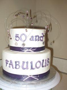 Martini 50th Birthday Cake Silver Hot Pink and Black Fondant