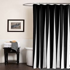 """Black and White Striped Shower Curtain 70"""" by 72"""" Myru…"""