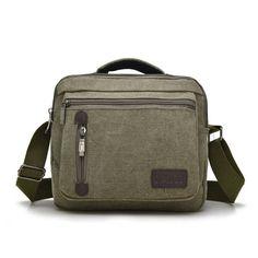 Men and Women Canvas Messenger bags Leisure Unisex Vintage Canvas Bag Handbags Cross Body Shoulder Bags 5 Colors