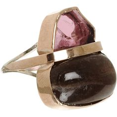 Sandra Dini Pink Tourmaline Stone of the Sun Ring ($459) ❤ liked on Polyvore