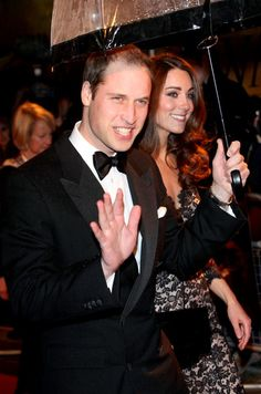 Prince William, Duke of Cambridge and Catherine, Duchess of Cambridge attend the UK premiere of War Horse at the Odeon Leicester Square on January 8, 2012 in London.