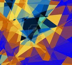 Retro abstrakten Kubismus Kunst Grafik Design Hintergrund Stockfoto