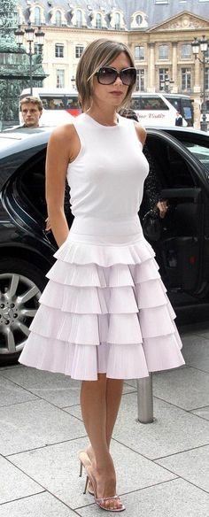 Victoria Beckham white dress
