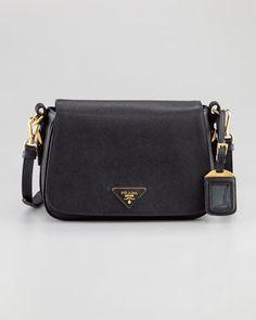 Prada Saffiano Lux Messenger Bag - Neiman Marcus