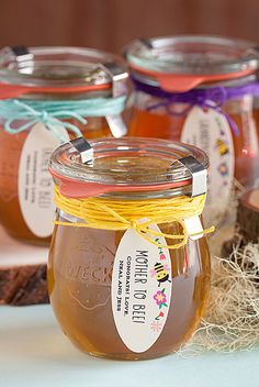 Mother To Bee honey jar gift idea from @perfectpalette