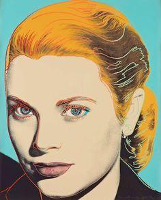ANDY WARHOL, Grace Kelly, 1984. Silkscreen in colors. / Bukowskis