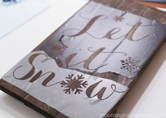 DIY Winter Woodland Sign - Blooming Homestead