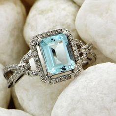 Aquamarine and diamond ring...gorgeous!  #tonerjewelers