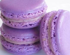 French Macaron Cookies 12 Creme de Cassis Macaroons Gift Splendid Sweet