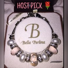 Bella Perlina bracelet Beautiful pinks and rhinestones.. Worn 1x. Great condition. Comes with box. Bella perlina Jewelry Bracelets