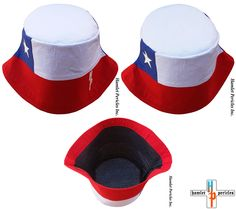Chile Flag White-top Bucket Hat via Hamlet Pericles, Inc.   #HamletPericlesFashion #Hamlet #Pericles #BucketHat #Chile #Chilean #Chileno #Chilenos #Chileanas #SantiagoDeChile #ChileanGirl #ChileanBoy #LatinAmerica #SouthAmerica #Etsy #Embroidery #CoolHat #Fashion #Headwear #Style #Flag #StreetFashion #StreetStyle #Streetwear #Millinery #Latino #Latina #BlackOwned #SmallBusiness #Hats #RedWhiteAndBlue #Patchwork #Urbanwear