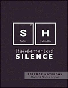 SH - The elements of silence - Science Notebook - Cornell Notes Paper: Funny Periodic Table Joke - Chemestry - Cornell Method Notebook Cornell Notebook, Cornell Notes, Science Notebooks, Note Paper, Periodic Table, Jokes, Amazon, Funny, Online Shopping